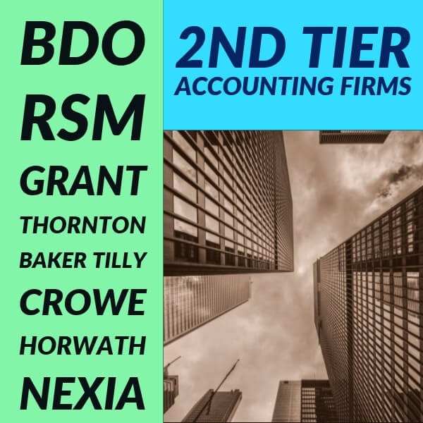 2nd tier accounting firms list