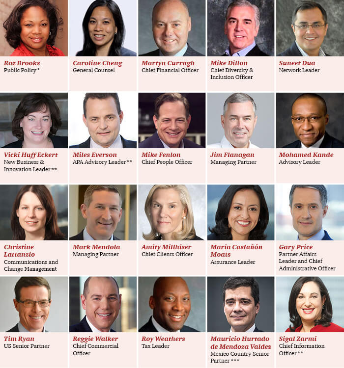 PwC leadership changes