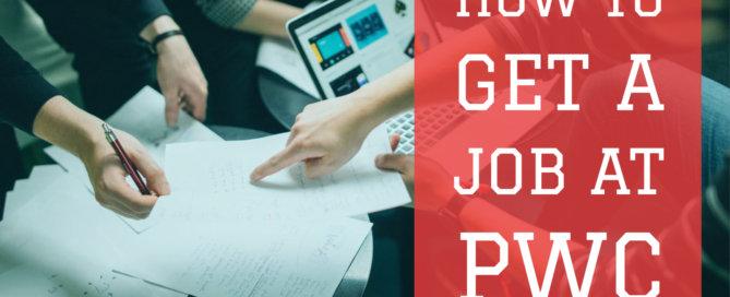 how to get a job at pwc