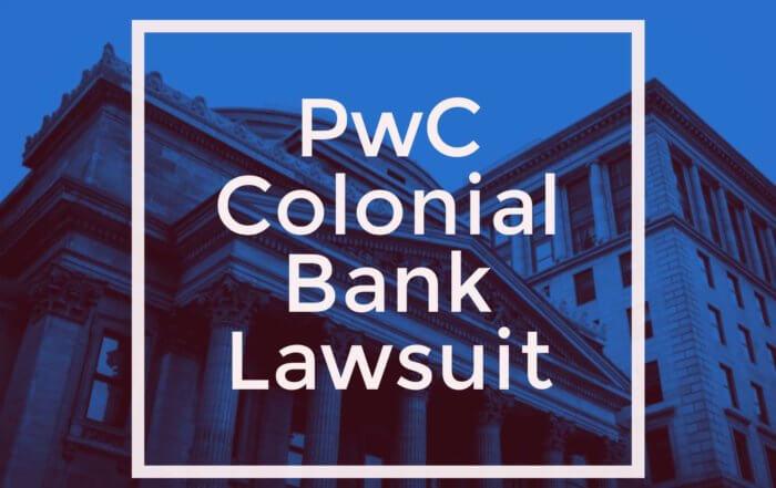 pwc colonial bank lawsuit 2018