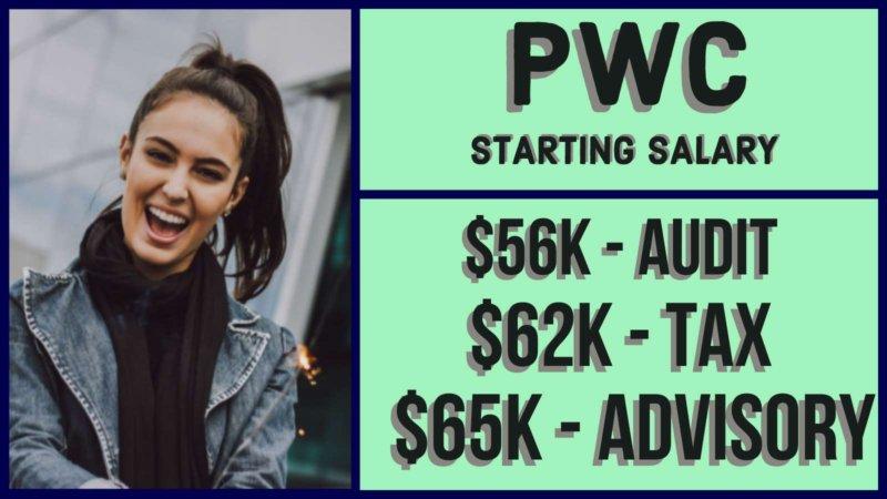 pwc starting salary
