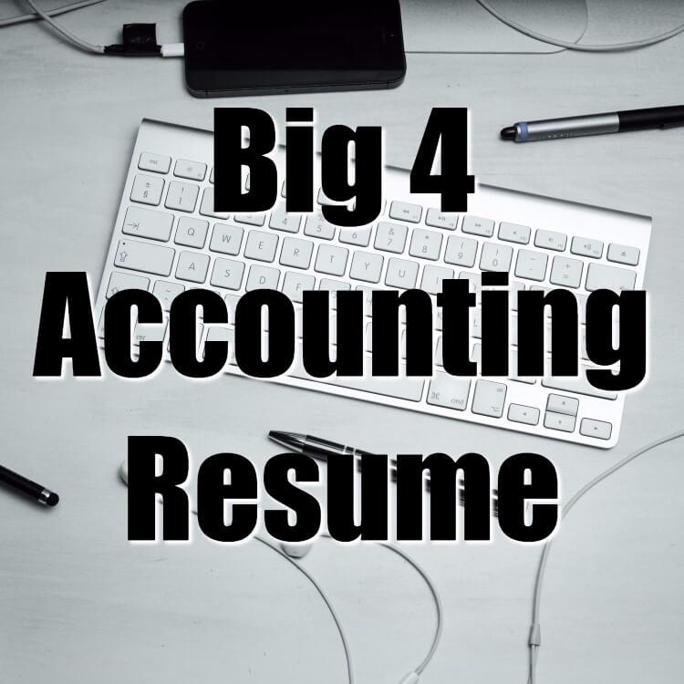 Big 4 Accounting Resume Sample Free Accounting Resume Template